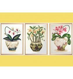Цветы и птицы . Триптих